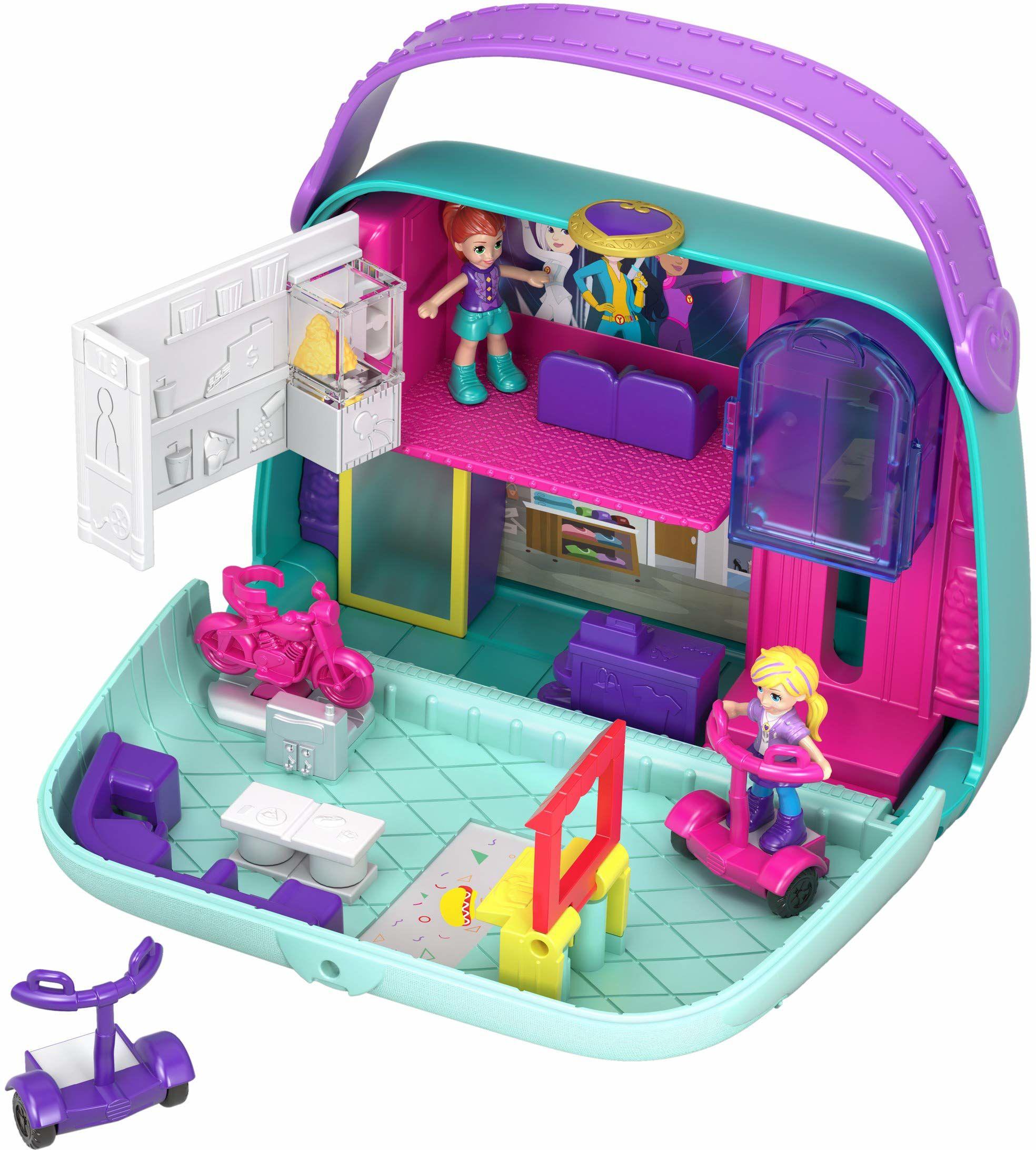 Polly Pocket GCJ86 World centrum handlowe szkatułka