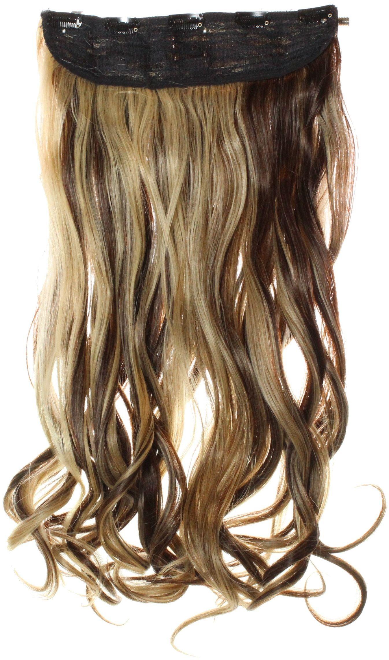 hair2heart Clip in Extensions, waga włosów 130 g, falowane, 4/22