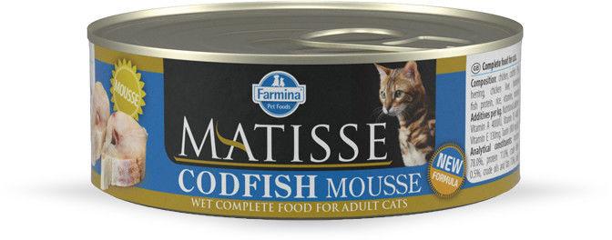 Farmina Matisse Cat Mousse z dorszem 85g