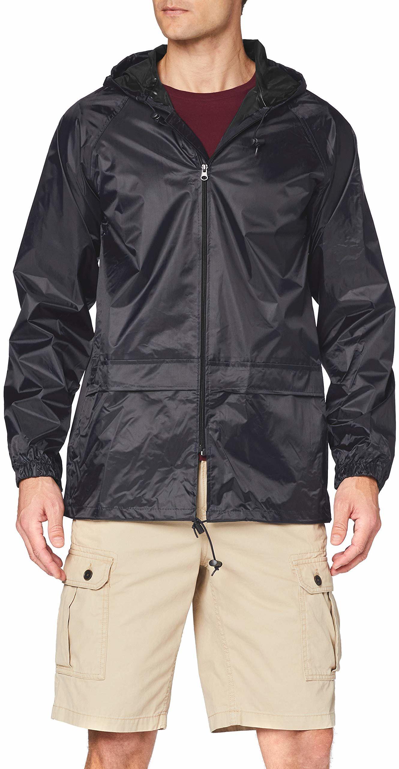Regatta Męska Trw408 80060 jednokolorowa kurtka dżinsowa z kapturem długi rękaw czarna rozmiar M