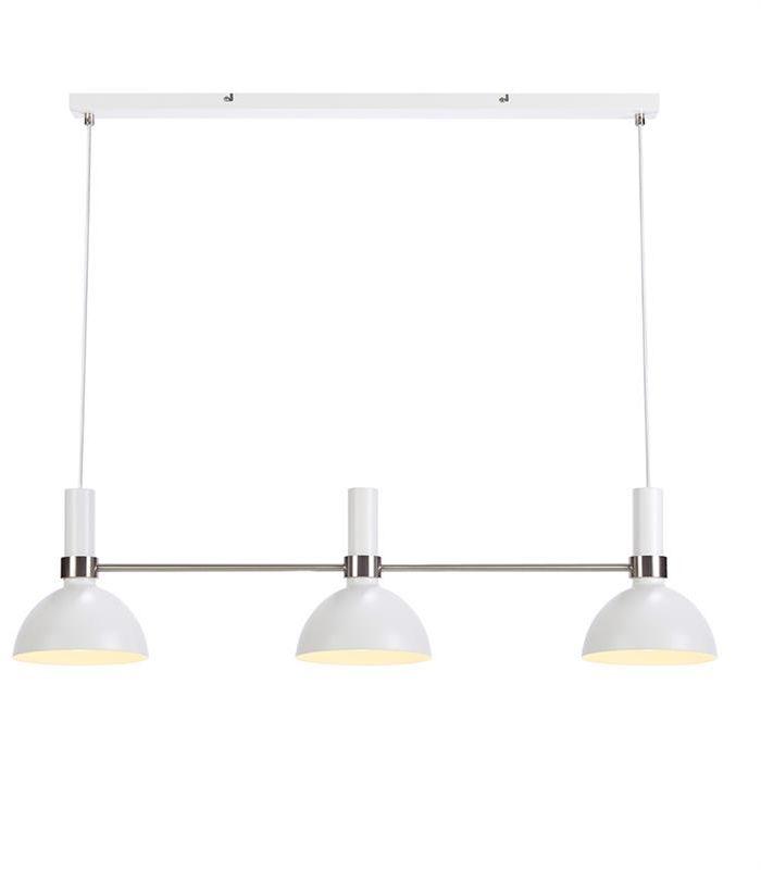 Lampa wisząca Larry 107500 Markslojd biała nowoczesna potrójna oprawa wisząca