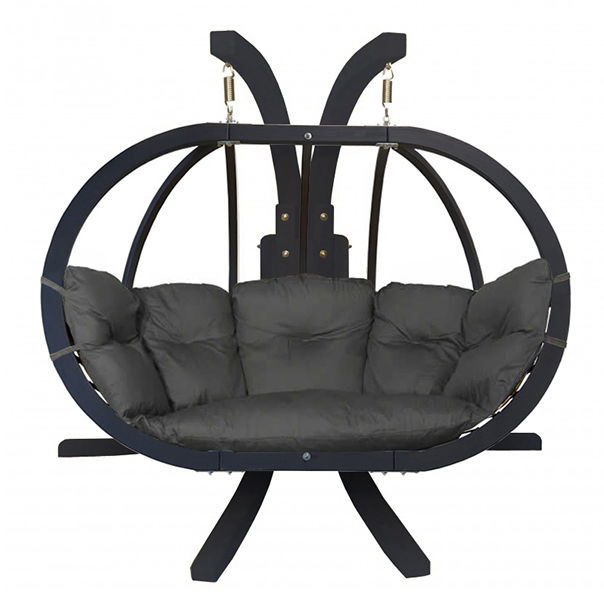 Zestaw: stojak Sintra Antracyt + fotel Swing Chair Double Antracyt (10), grafitowy Sintra + Swing Chair Double (10)