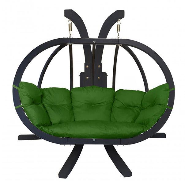Zestaw: stojak Sintra Antracyt + fotel Swing Chair Double Antracyt (10), zielony Sintra + Swing Chair Double (10)