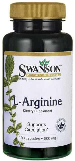 SWANSON L-Arginine (L-Arginina) 500mg - 100 kapsułek
