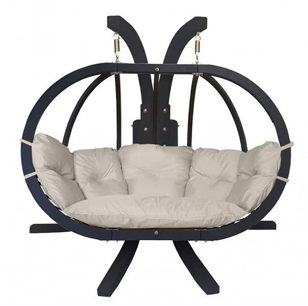 Zestaw: stojak Sintra Antracyt + fotel Swing Chair Double Antracyt (10), kremowy Sintra + Swing Chair Double (10)