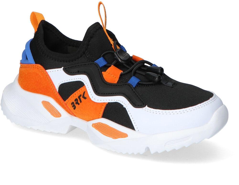 Sneakersy dziecięce Bartek 78219-58G Białe/Pomarańczowe