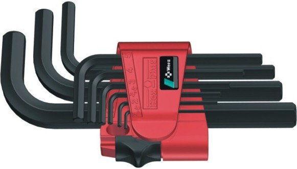 komplet 9szt. kluczy trzpieniowych do śrub imbusowych metrycznych Hex-Plus 1,5-10mm, 950/9 Wera [05021737001]