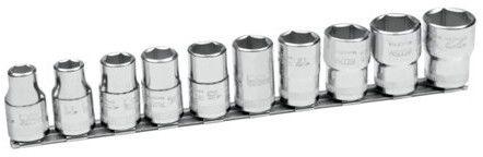 """zestaw 10szt. ręcznych nasadek sześciokątnych 1/2"""", 10-22mm, na listwie Bahco [7810MH]"""