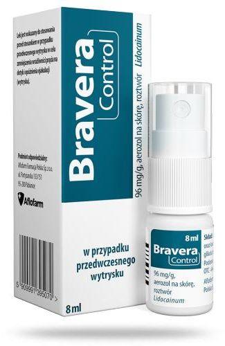 Bravera Control 96 mg/g aerozol na skórę opóźniający wytrysk 8 ml