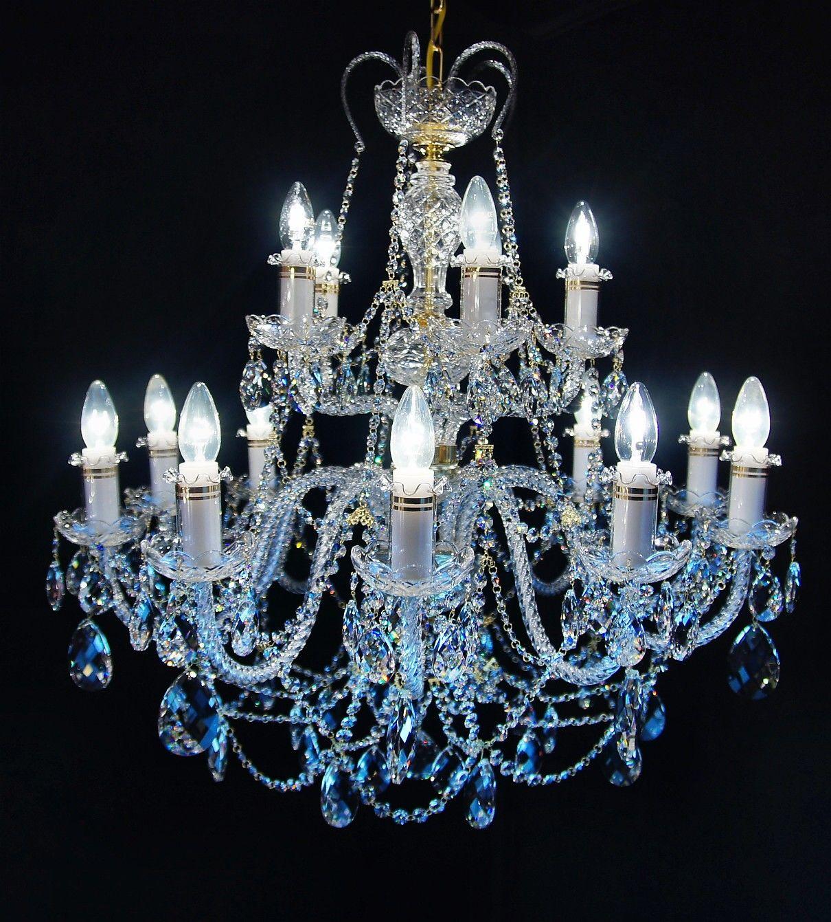 Żyrandol kryształowy 15-ramienny - Elite Bohemia