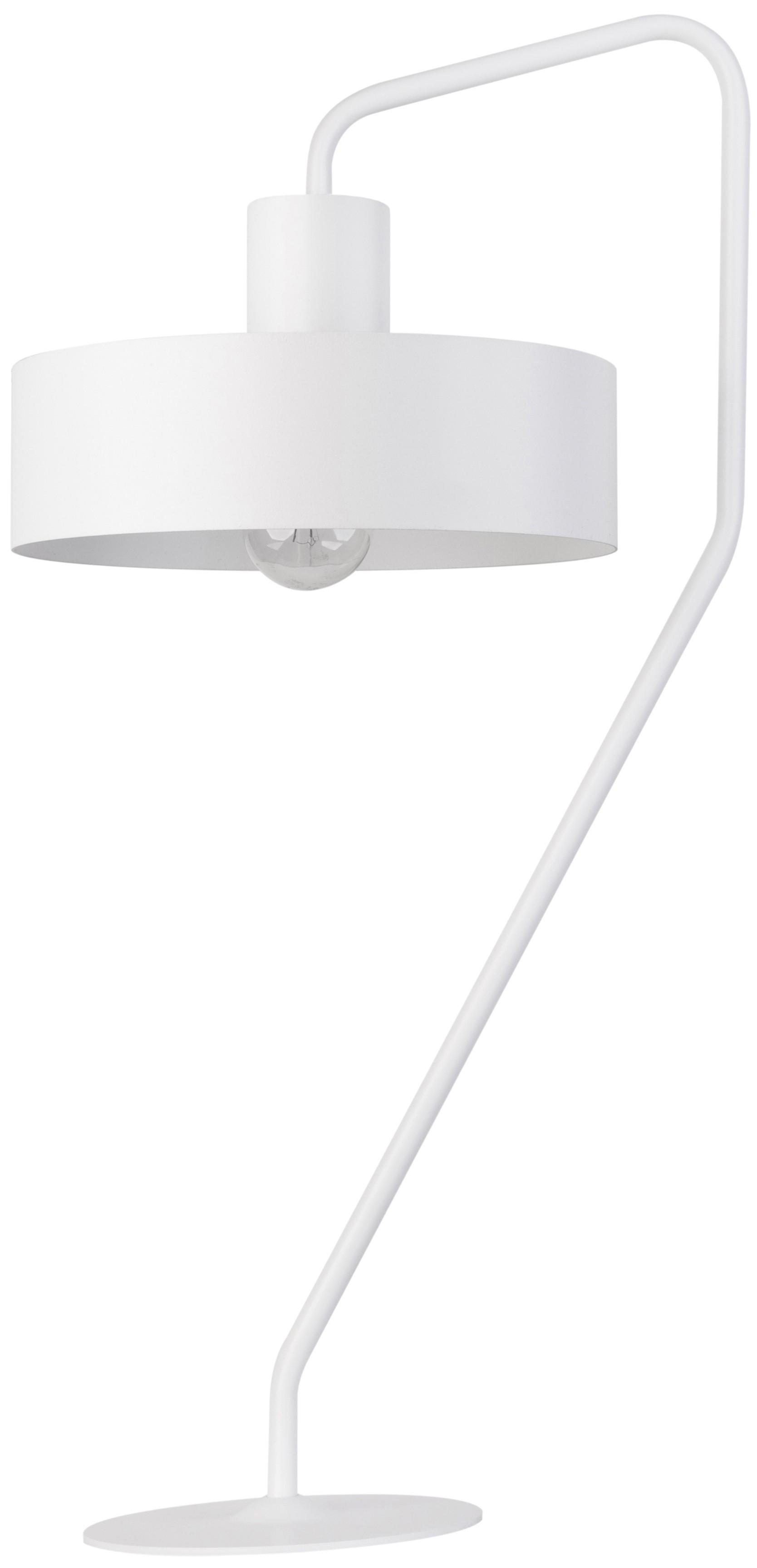Lampka nowoczesna biała Jumbo metalowa okrągła 50109 - Sigma Do -17% rabatu w koszyku i darmowa dostawa od 299zł !