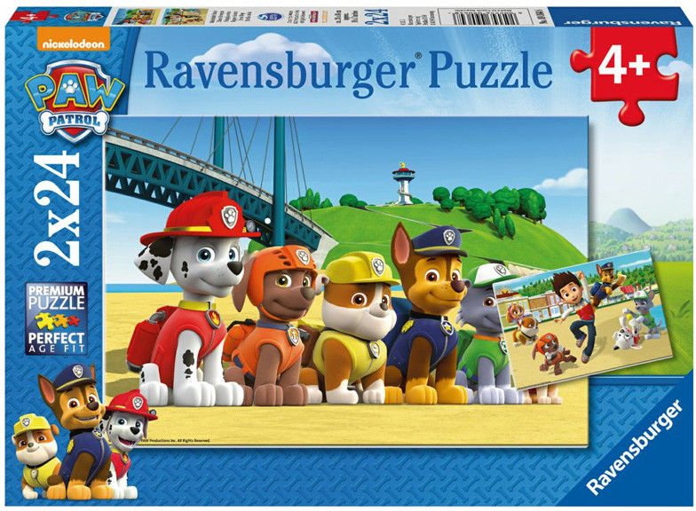 Puzzle Ravensburger 2 x 24 - Psi Patrol bohaterskie szczeniaki, PAW Patrol heroic puppies