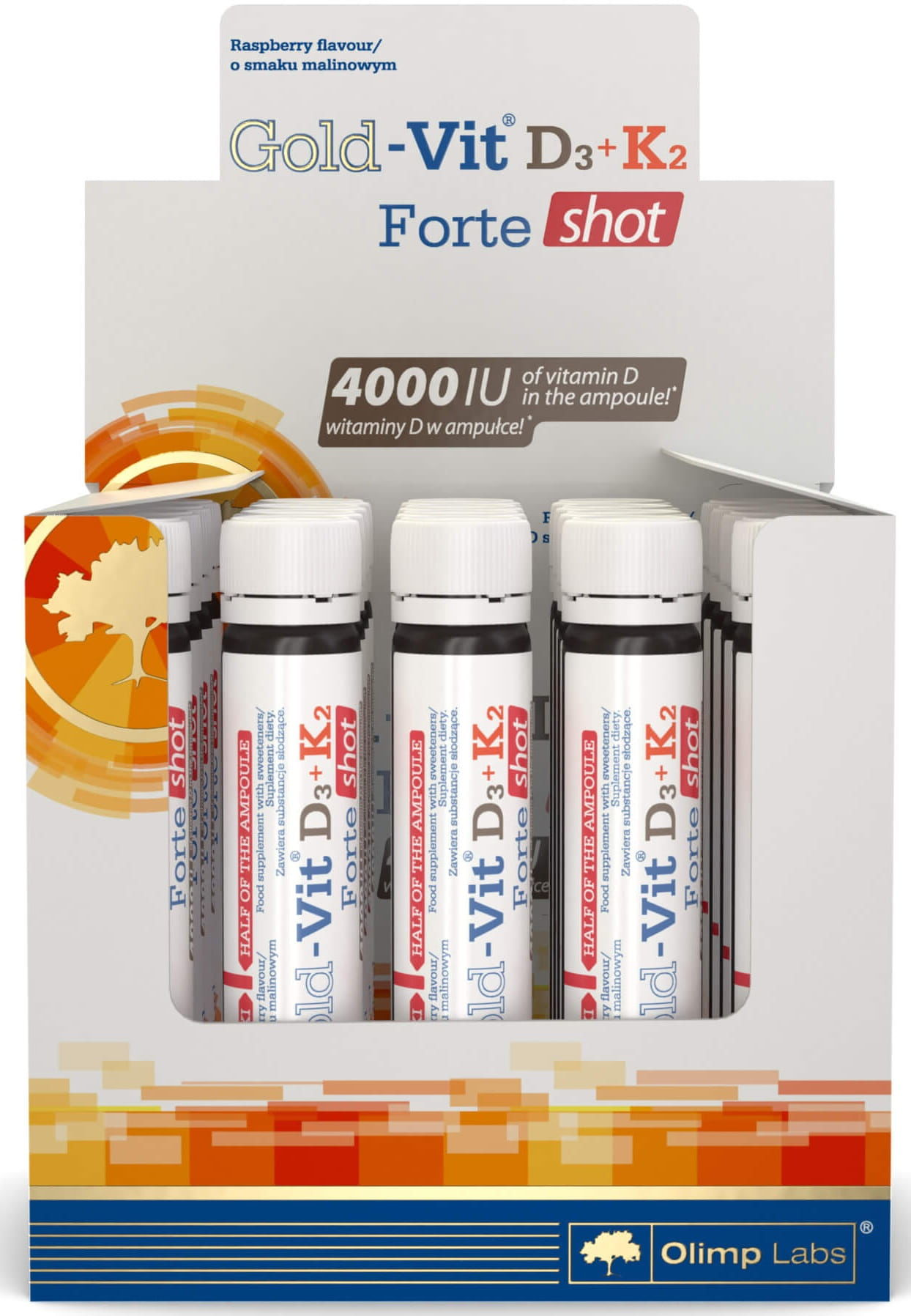 Gold-Vit  D3+K2 Forte Shot Ampułka Suplement Diety 25ml - Olimp Labs