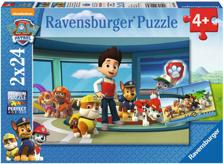 Puzzle Ravensburger 2 x 24 - Psi Patrol Prubble i Przyjaciele, PAW Patrol Prubble and Friends