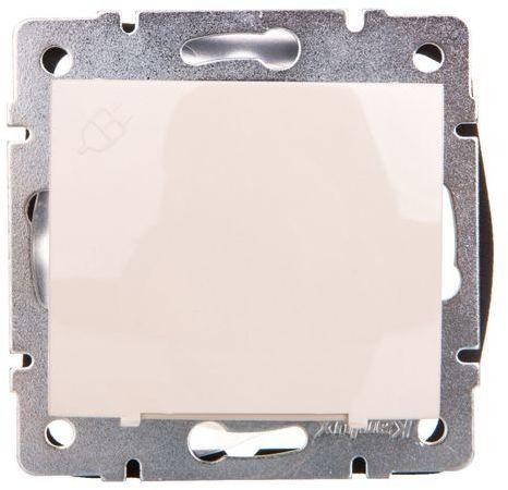 DOMO Gniazdo z uziemieniem IP44 Schuko śrubowe 16A 250V kremowy 011230103 24791