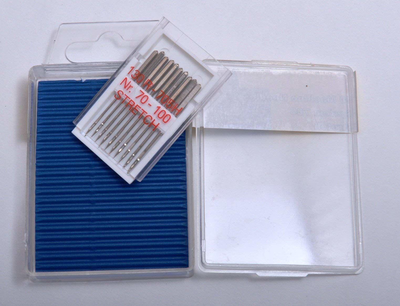 TSL 10 x elastyczna maszyna do szycia nr 70-100, metal, srebrny, 4 x 0,1 x 0,1 cm