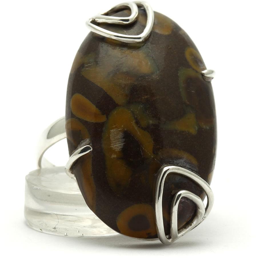 Kuźnia Srebra - Pierścionek srebrny, rozm. 18, Ryolit, 10g, model