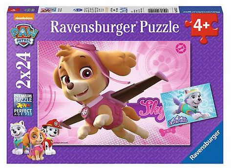 Puzzle Ravensburger 2 x 24 - Psi Patrol Skye i Everest, PAW Patrol Skye i Everest