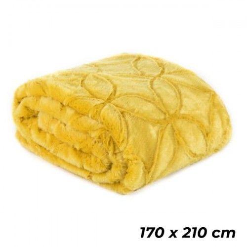 EUROFIRANY Narzuta na łóżko 170x210 cm musztardowa