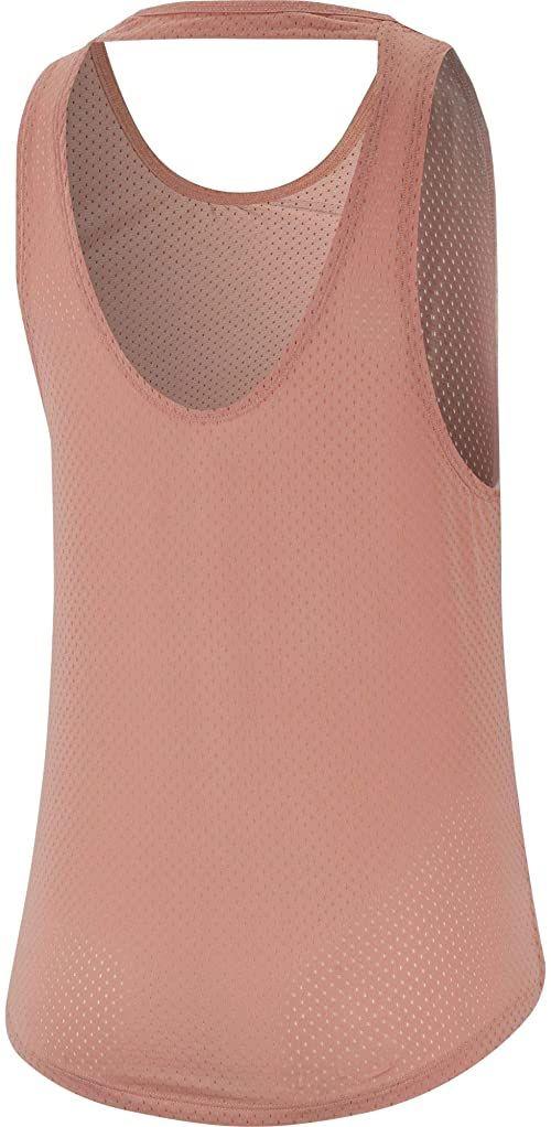 Nike Damska koszulka bez rękawów W Nk Miler Tank Breathe bez rękawów, różowy kwarc/odblaskowy srebrny, XL