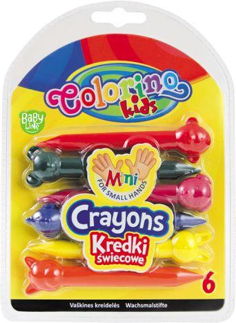 Kredki świecowe COLORINO Kids Zwierzaki 6kol. 33022PTR