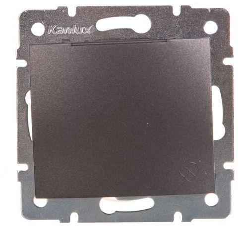 DOMO Gniazdo z uziemieniem IP44 Schuko śrubowe 16A 250V grafit 011230141 24909