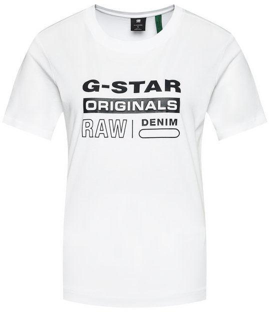 G-Star Raw T-Shirt Lyon D19953-4107-110 Biały Regular Fit