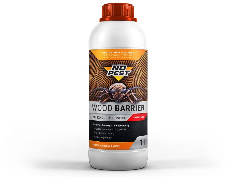 Środek na korniki, spuszczele, kołatki owady w drewnie 1L NO PEST WOOD BARRIER.