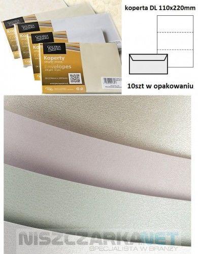 Koperta / koperty ozdobne DL - Millenium biały - opk 10szt/120g