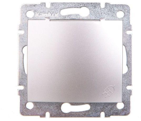 DOMO Gniazdo z uziemieniem IP44 Schuko śrubowe 16A 250V srebrny011230143 24850