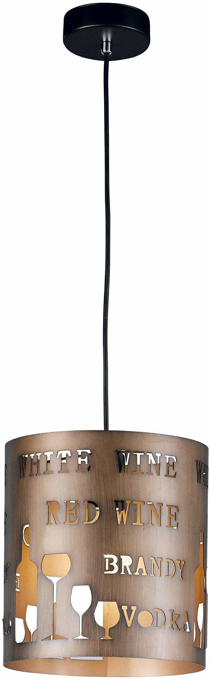 WOFI 6184.01.58.6250, lampa wisząca, metal, 60 W, E27, cappuccino, 23,5 x 23,5 x 25 cm