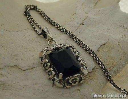 Calabria - srebrny wisior z szafirem