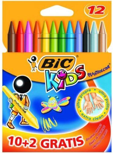 Kredki świecowe BIC Kids Plastidecor 12 kolorów 829770