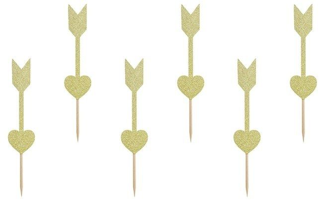 Dekoracja do muffinek Sweet Love - Strzałki 6 sztuk KPM23-019B