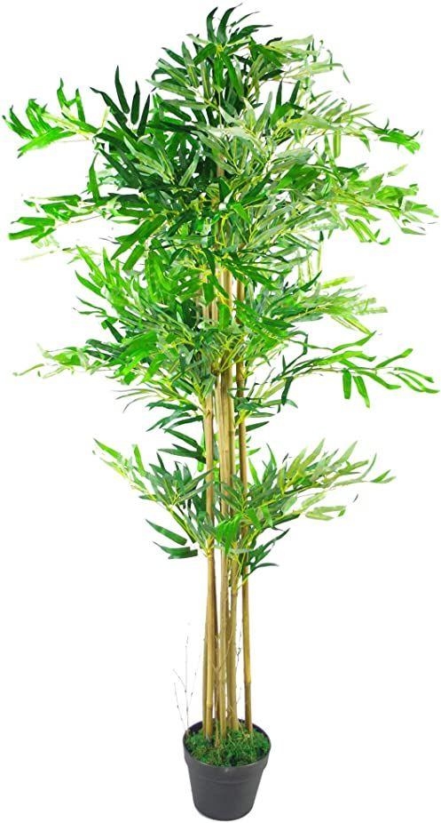 Leaf Design UK sztuczne rośliny bambusowe/drzewa, naturalny brąz, 150 cm