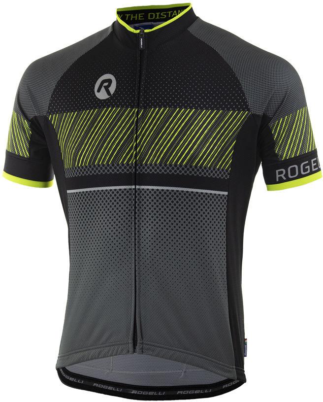 ROGELLI RITMO koszulka rowerowa czarny fluor żółty Rozmiar: L,ritmo-kosz-ffl