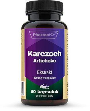 Karczoch Zwyczajny Artichoke 4:1 400 mg (90 kaps) Pharmovit