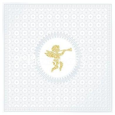 SERWETKI PAPIEROWE - Aniołek - Angel Pearl - tłoczone