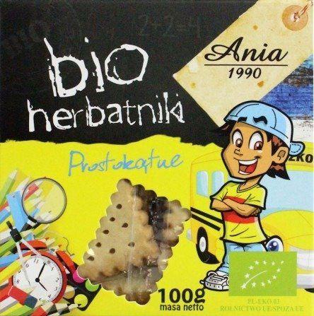 Herbatniki Dla Dzieci Prostokątne 100g - Bio Ania - EKO
