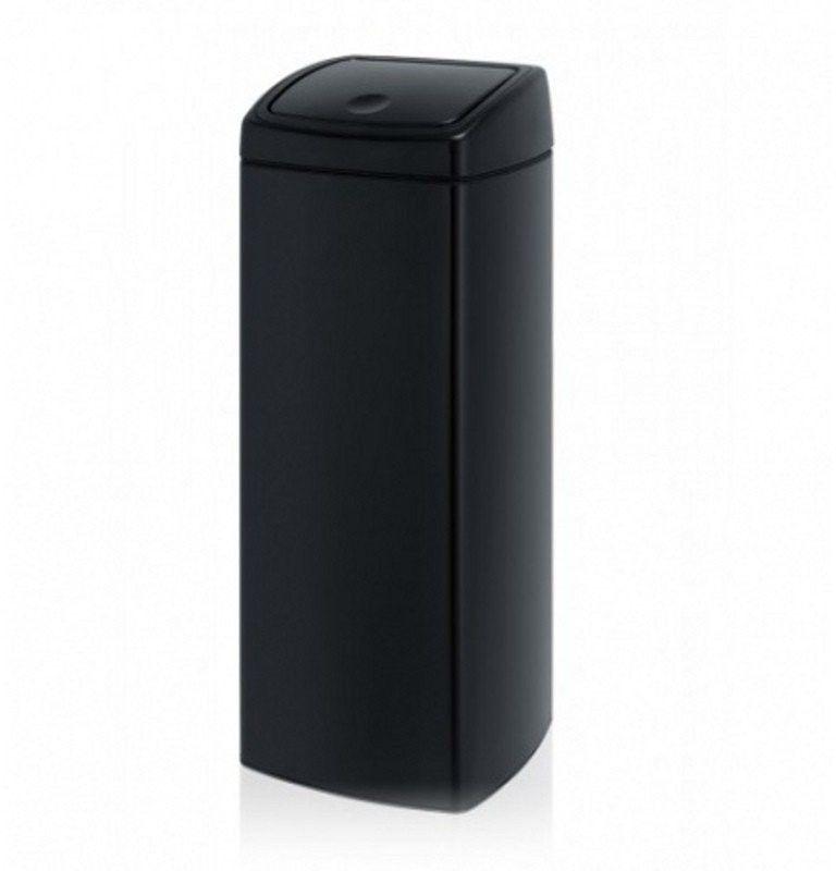 Brabantia - kosz ''touch bin '' prostokątny - wiaderko plastikowe  25l - czarny matowy