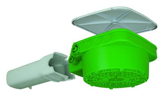 Obudowa HaloX-P z tunelem transformatora 226 x 226 x 130 mm