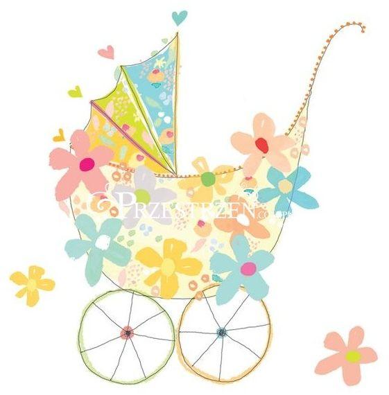 SERWETKI PAPIEROWE - Wózek dziecięcy - Oh Baby! - NA CHRZCINY / NARODZINY DZIECKA