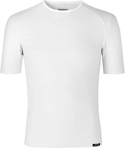 GripGrab Uniseks  ultralekki podkoszulek dla dorosłych, z krótkim rękawem, Cool Mesh, na lato, do sportów rowerowych, kolor biały, L