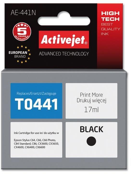 Tusz Activejet AE-441N (zamiennik Epson T0441; Supreme; 17 ml; czarny)