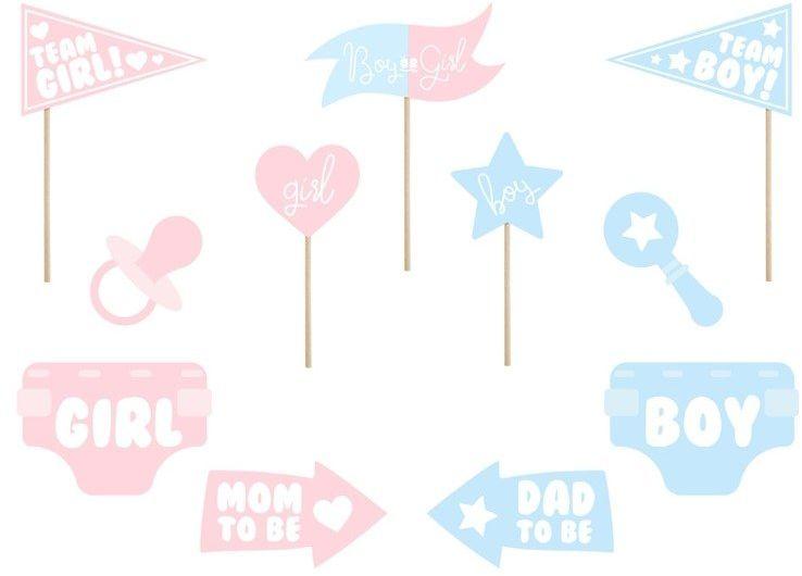 Gadżety do zdjęć Baby Shower 11 sztuk KNP29