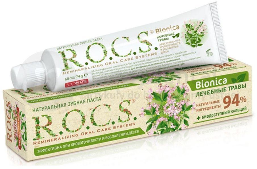 ROCS BIONICA Green Wave 60ml - naturalna pasta do zębów bez fluoru wspomagająca profilaktykę przeciw stanom zapalnym dziąseł