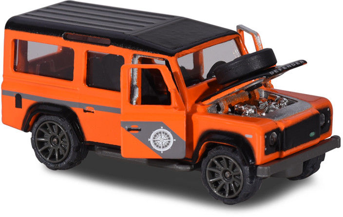 Majorette Deluxe Cars - Land Rover Defender 110 pomarańczowy 2053152
