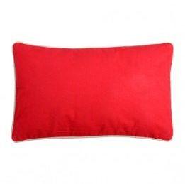 STC poduszka, prostokątna, dwukolorowa, czerwony/len