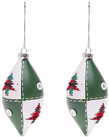 BigBuy bombki świąteczne, zielone, 6,5 cm