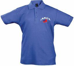 Supportershop Dziecięca koszulka polo Rugby Samoa XL niebieska